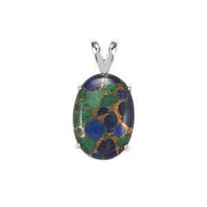 Mojave Azurite Pendant in Sterling Silver 23cts
