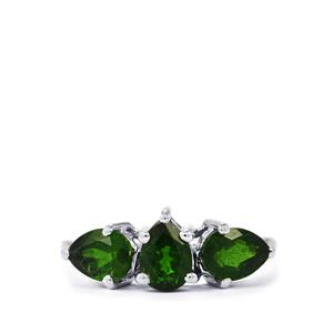 Chrome Diopside Ring in Sterling Silver 2.42cts