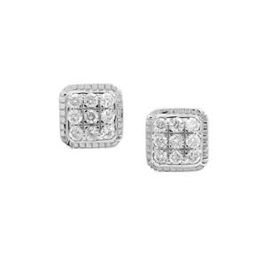 Canadian Diamond Earrings in 9K White Gold 0.26ct