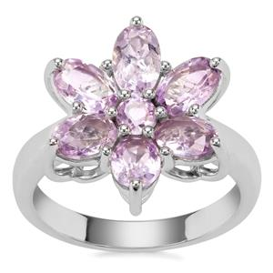 Rose du Maroc Amethyst Ring in Sterling Silver 2.70cts