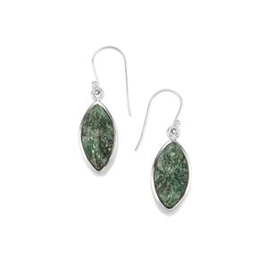 Fuchsite Drusy Earrings in Sterling Silver 17cts