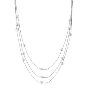 "20"" Graduate Station Necklace in Sterling Silver 11.59g"