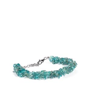 Blue Apatite Bracelet in Sterling Silver 92.50cts