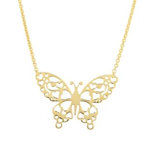 "18"" Midas Altro Butterfly Necklace 3.64g"