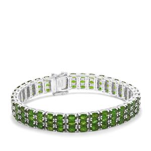 Chrome Diopside Bracelet in Sterling Silver 25.18cts
