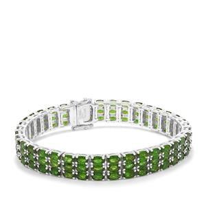 25.18ct Chrome Diopside Sterling Silver Bracelet