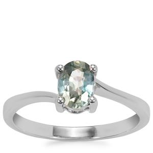 Ratanakiri Blue Zircon Ring in Sterling Silver 1.20cts