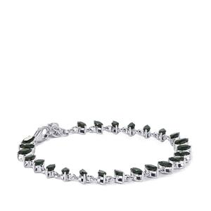 8.28ct Black Spinel Sterling Silver Bracelet
