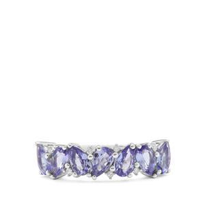 AA Tanzanite & Diamond 9K White Gold Ring ATGW 1.40cts