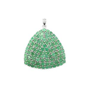 Carnaiba Brazilian Emerald Pendant in Sterling Silver 12.47cts