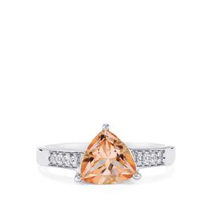 Galileia Topaz Ring with White Topaz in Sterling Silver 2cts