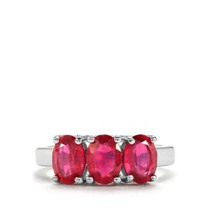 Malagasy Ruby Ring in Sterling Silver 3.47cts (F)