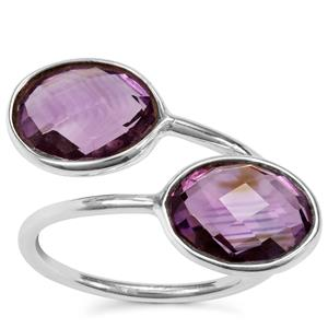 Bahia Amethyst Ring in Sterling Silver 7cts
