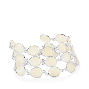 Rainbow Moonstone Bracelet in Sterling Silver 67.69cts