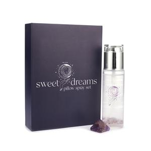 Gem Auras Sweet Dreams Lavender Pillow Spray with Amethyst Gemstones AGTW 100cts