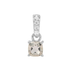 Serenite & White Zircon Sterling Silver Pendant ATGW 0.62cts