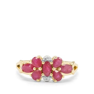 Burmese Ruby & Diamond 9K Gold Ring ATGW 1.82cts