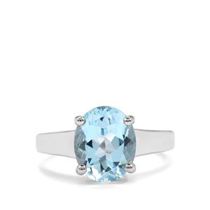 4.10ct Sky Blue Topaz Sterling Silver Ring