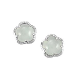 Aqua Chalcedony Earrings in Sterling Silver 5.80cts