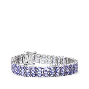 Tanzanite Bracelet in Sterling Silver 23.46cts