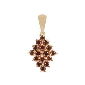 1/2ct Red Diamond 9K Gold Pendant
