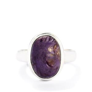 6.17ct Charoite Sterling Silver Aryonna Ring