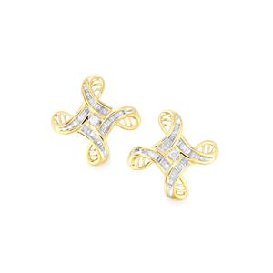 Diamond Earrings in 10k Gold 0.52ct