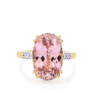 Mawi Kunzite & Diamond 18K Gold Lorique Ring MTGW 8.89cts