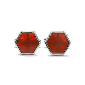 8.20ct American Fire Opal Sterling Silver Cufflinks