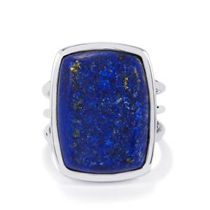 Lapis Lazuli Ring Drusy in Sterling Silver 17cts
