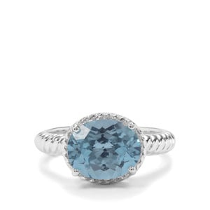 4.56ct Versailles Topaz Sterling Silver Ring