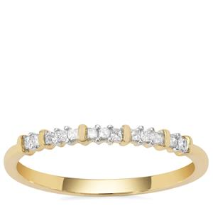 Diamond Ring in 9K Gold 0.11ct