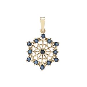 Nigerian Blue Sapphire Pendant in 9K Gold 0.95cts