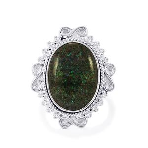 Andamooka Opal Ring in Sterling Silver 7.50cts