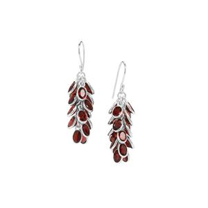 Ciana Hessonite Garnet Earrings in Sterling Silver 20.50cts