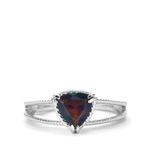 Ethiopian Midnight Opal Ring in Sterling Silver 0.70ct