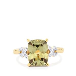 Csarite® Ring with Diamond in 18K Gold 3.71cts
