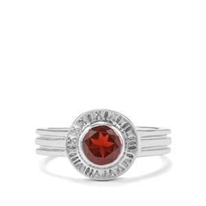 Octavian Garnet Romulus Ring in Sterling Silver 1cts