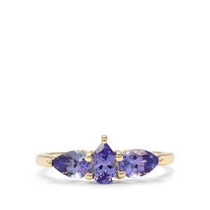 1.15ct AA Tanzanite 9K Gold Ring