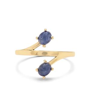 Burmese Blue Sapphire Ring in 9K Gold 1.15cts