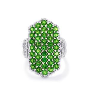 3.90ct Chrome Diopside Sterling Silver Ring