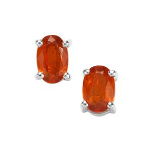 Loliondo Orange Kyanite Earrings in Sterling Silver 1.18cts