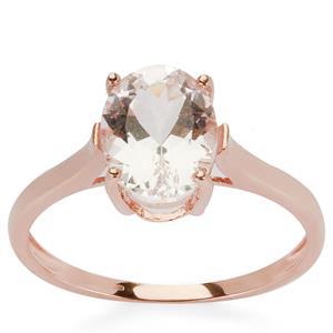 Danburite Ring in 9K Rose Gold 1.82cts