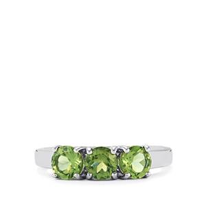 1.58ct Mandrare Green Apatite Sterling Silver Ring
