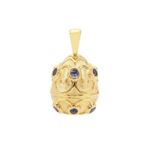 AA Tanzanite Pendant in Gold Plated Sterling Silver 0.65ct