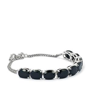 Black Spinel Bracelet in Sterling Silver 31.95cts