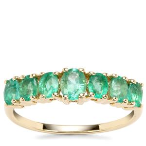 Zambian Emerald Ring in 9k Gold 1.25cts