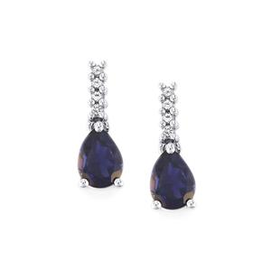 Bengal Iolite Earrings with White Topaz in Sterling Silver 1.88cts