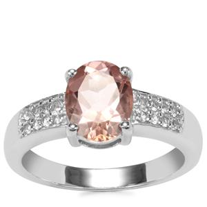 Galileia Topaz Ring with White Topaz in Sterling Silver 2.30cts
