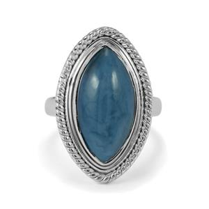 6.30ct Bengal Blue Opal Sterling Silver Aryonna Ring